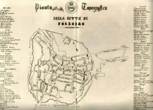 Pianta topografica 1870