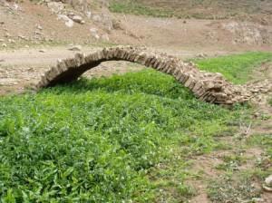 ponte romano sul rio Canonica